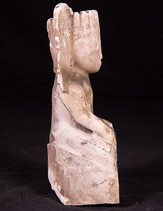 Antique marble crowned Buddha statue