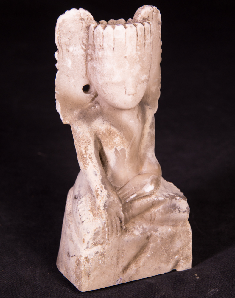Antique marble crowned Buddha statue from Burma made from Marble