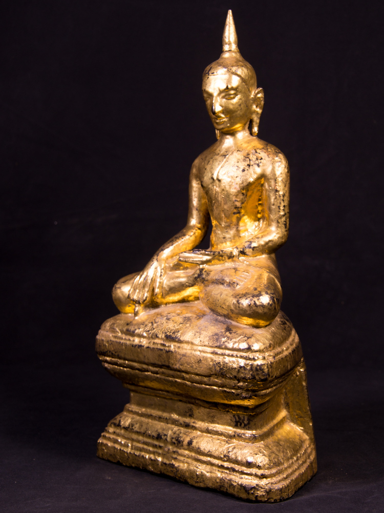 Antique Shan Buddha statue from Burma made from Wood