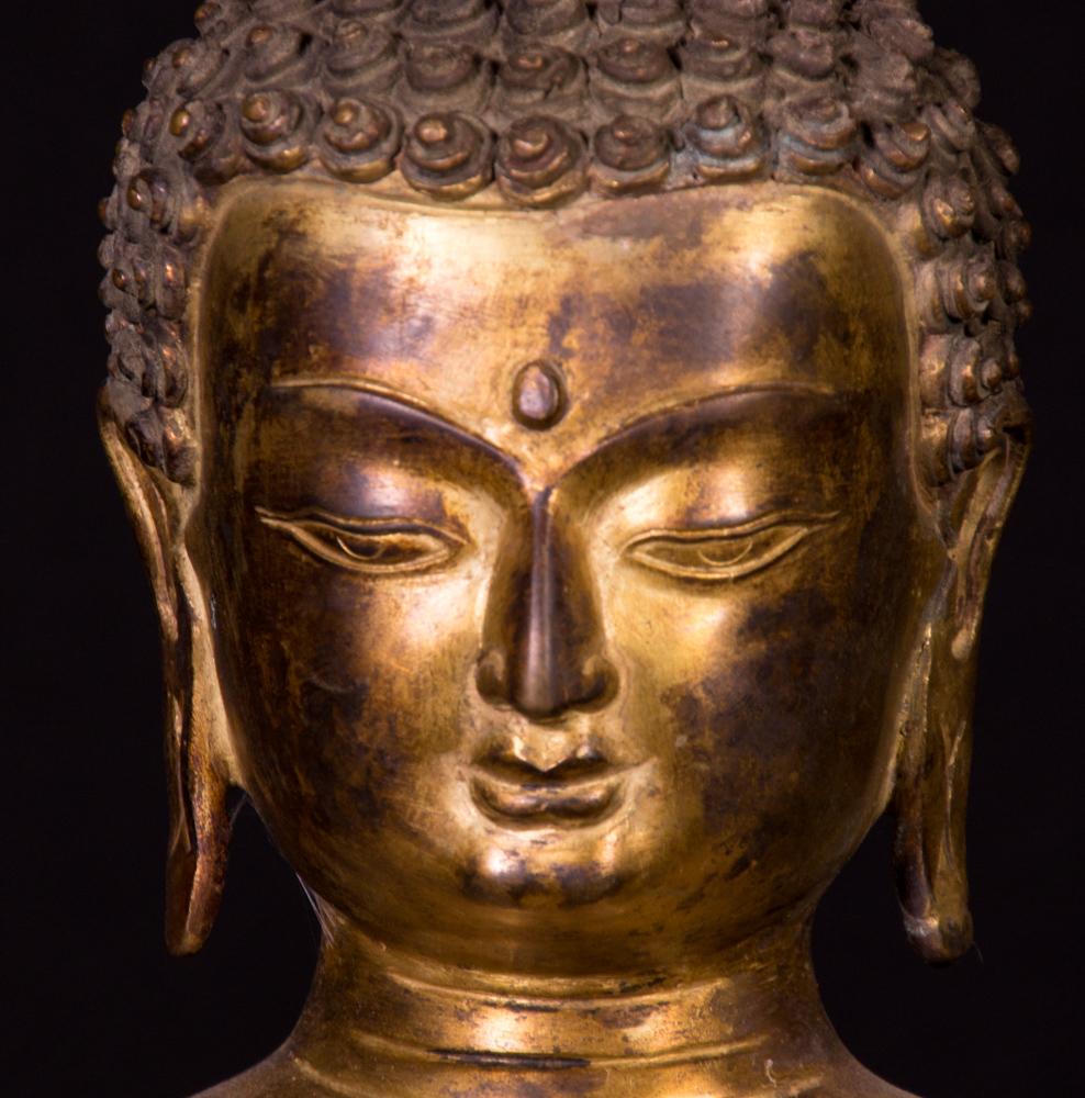 Alte nepalesische buddha figur aus nepal gemacht aus bronze for Buddha figur
