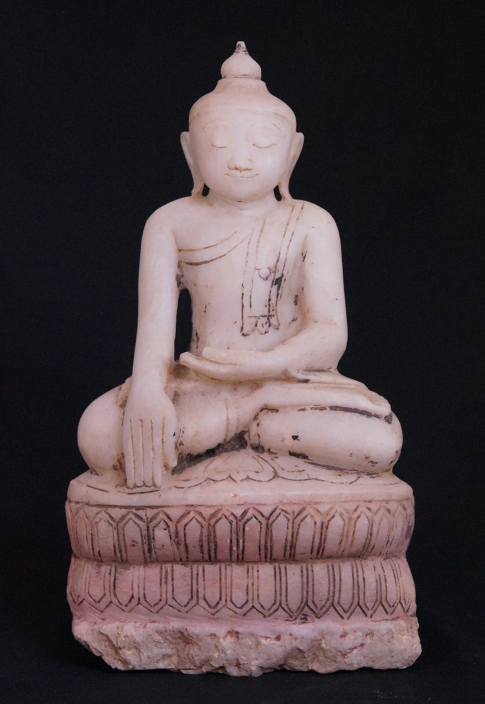Old marble Buddha statue from Burma