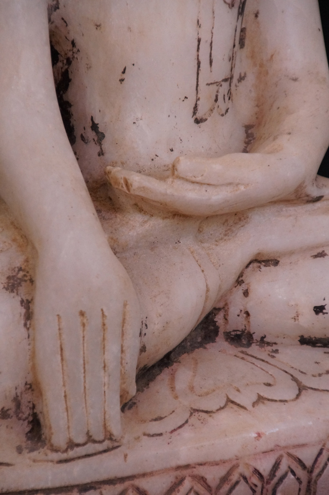Old marble Buddha statue from Burma made from Marble