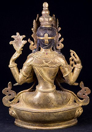 Old bronze Chengresi statue