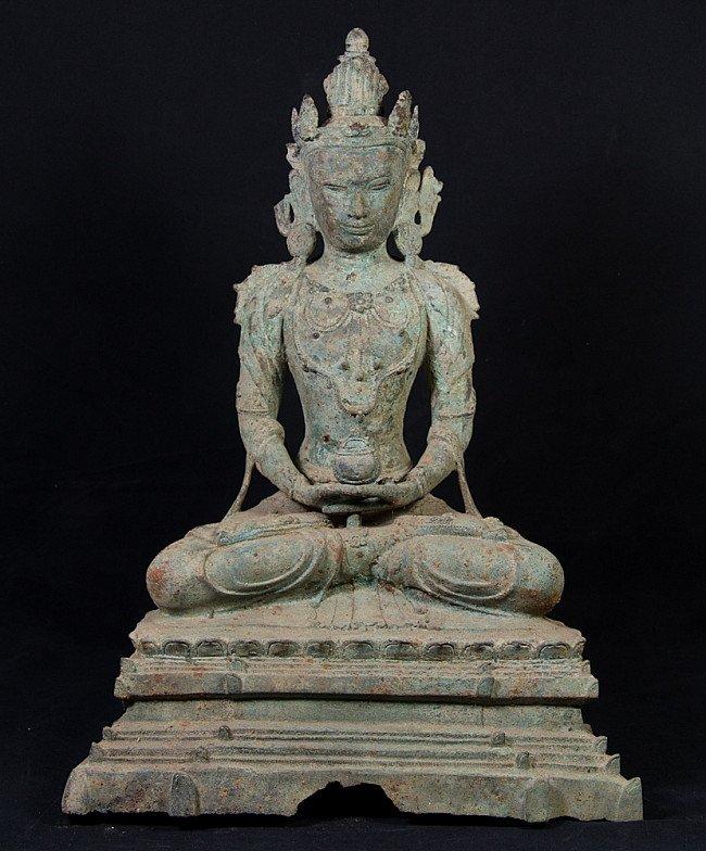 Antiek bronzen Arakan Boeddhabeeld