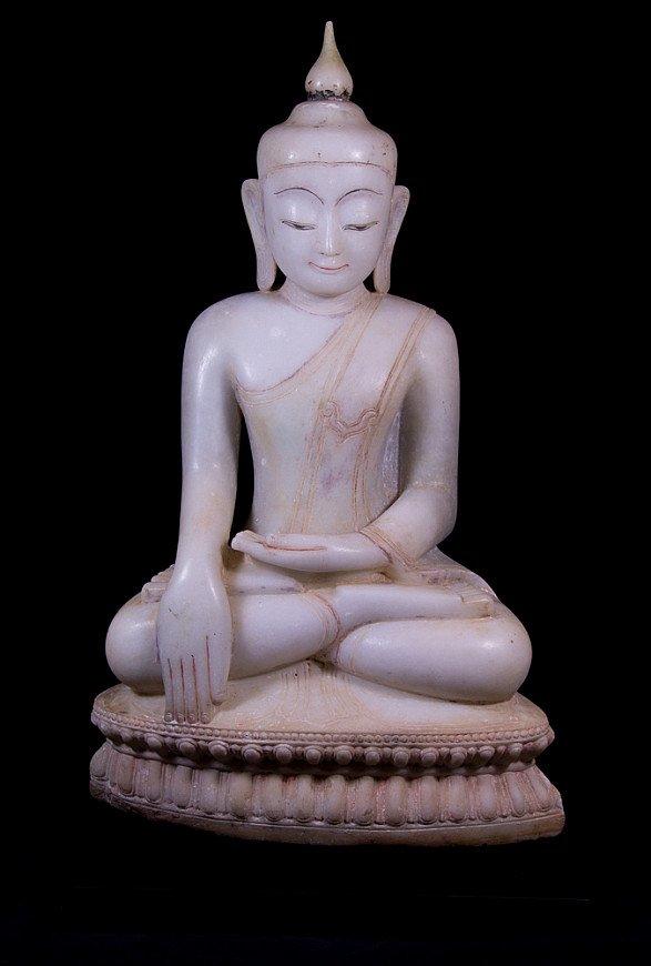 Antique marble Ava Buddha statue