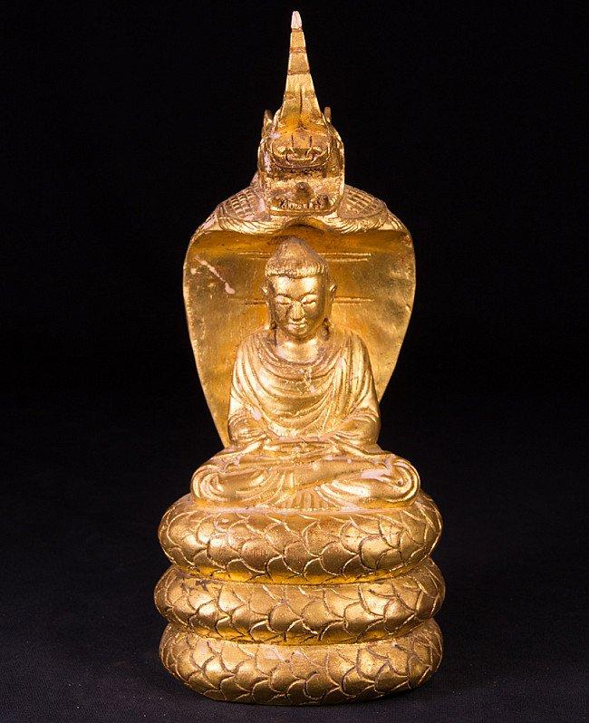 Oud Birmees Naga Boeddhabeeld