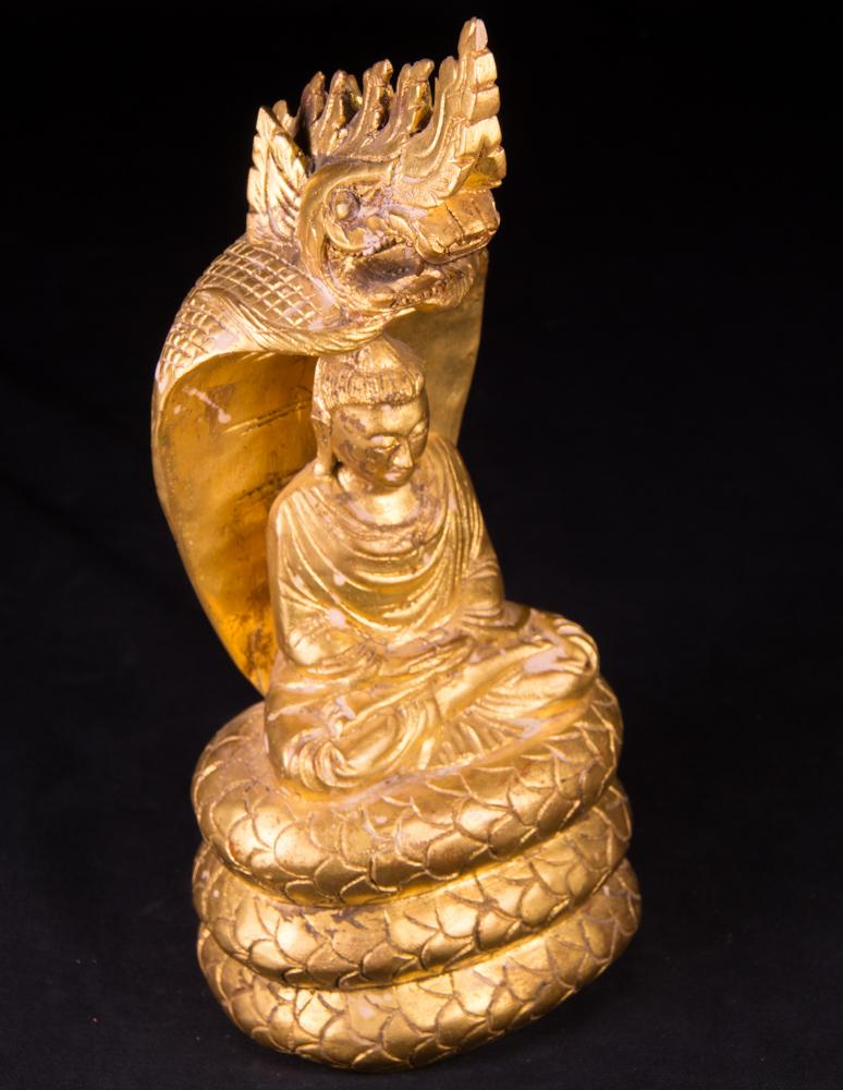 Antike holzerne naga buddha figur aus birma gemacht aus holz for Buddha figur holz