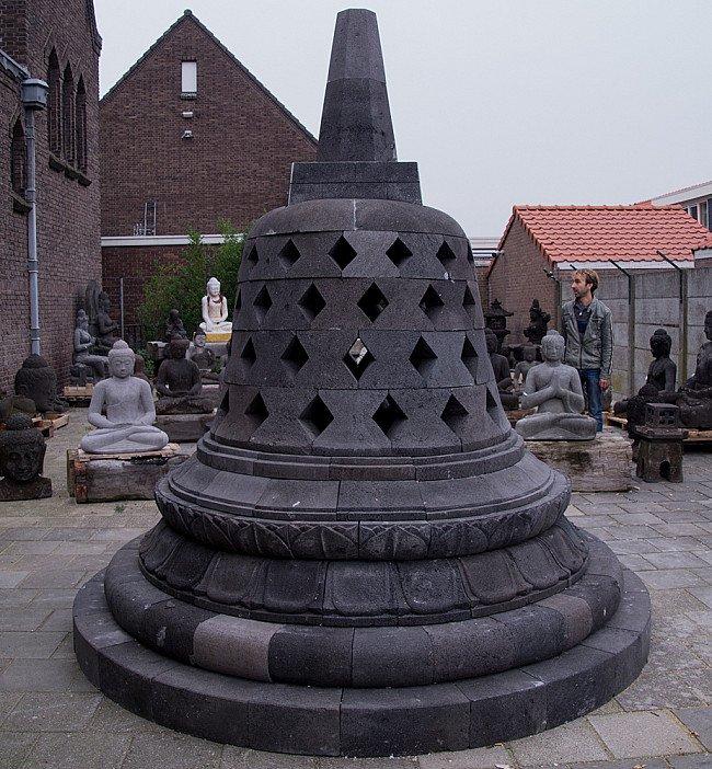 Large lavastone Stupa