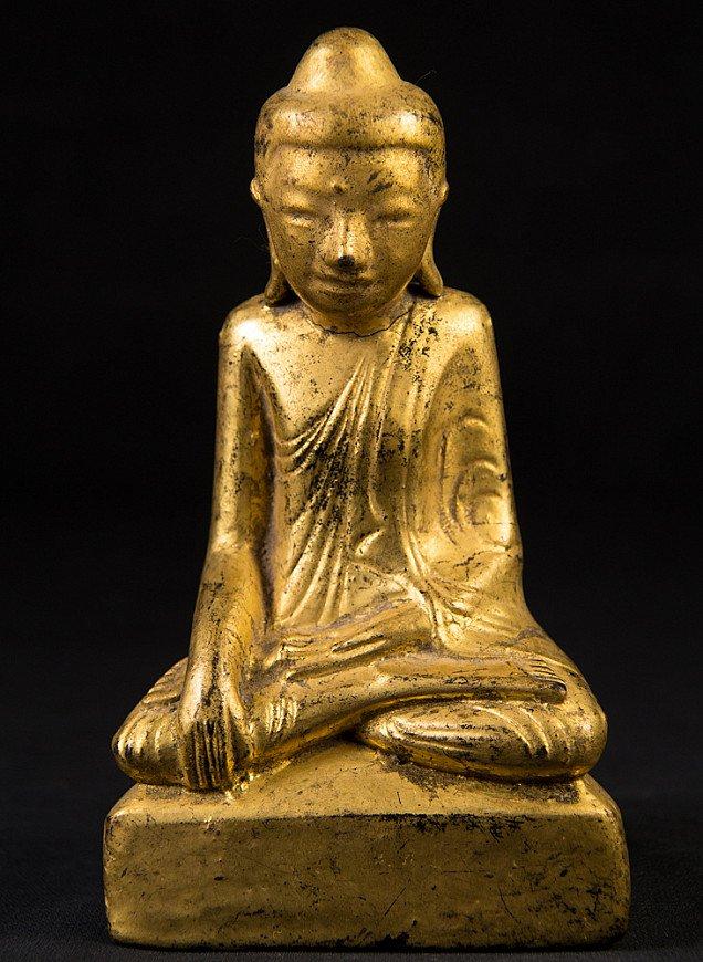 Antike lackkunst Shan Buddha Figur