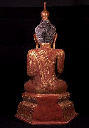 Large antique Ava Buddha statue