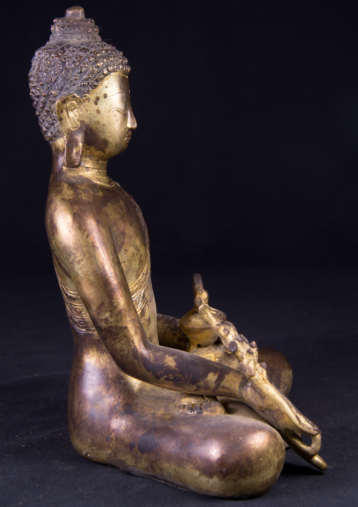 Bronze Medicine Buddha statue from India made from Bronze