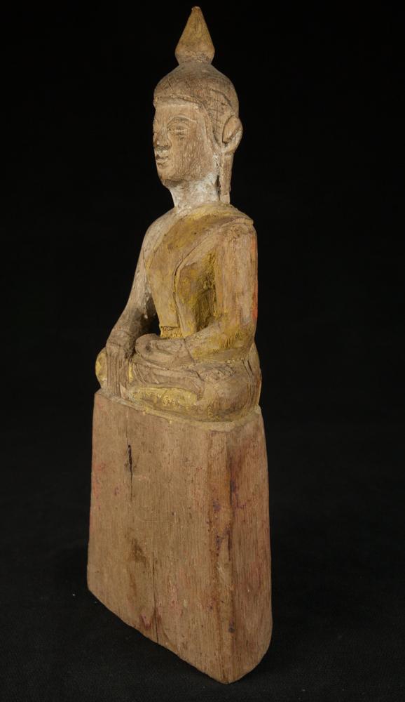 antike thailandische buddha figur aus thailand gemacht aus holz. Black Bedroom Furniture Sets. Home Design Ideas