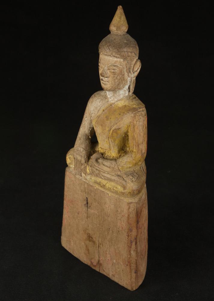 Antike thailandische buddha figur aus thailand gemacht for Buddha figur holz