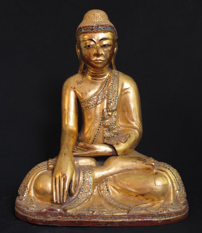 Antique sitting Buddha from Burma