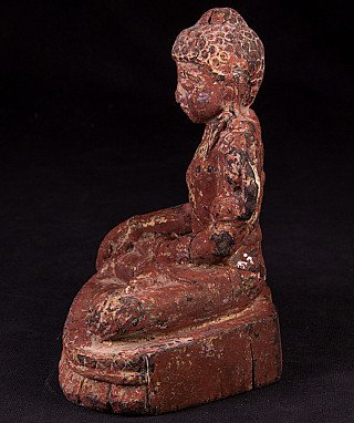 Antique wooden Arakan Buddha statue