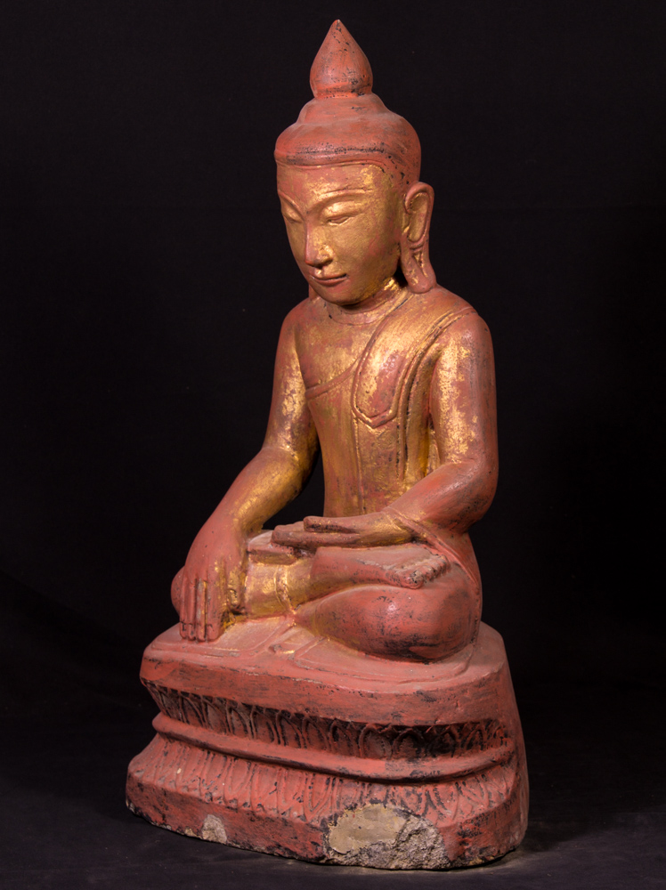 Antique sandstone Buddha statue from Burma made from Sandstone