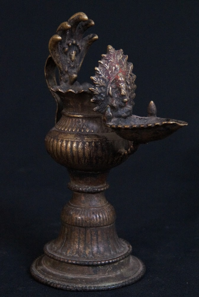Antique Nepali Oil Lamp - Sukunda from Nepal