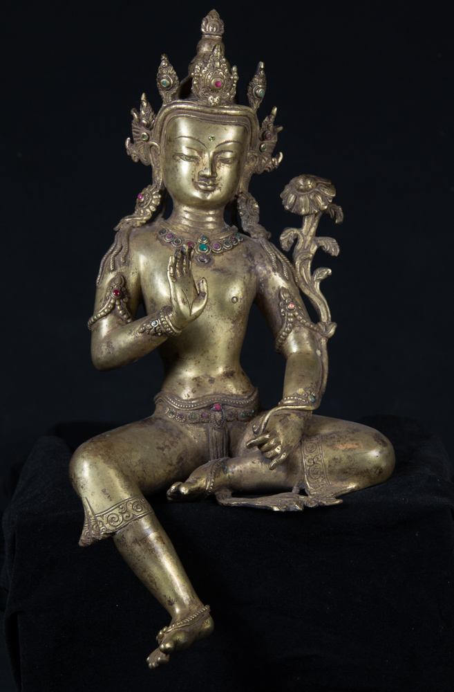 Old bronze Lokeshwor statue from Nepal