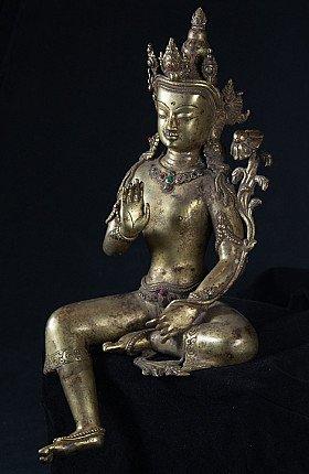 Old bronze Lokeshwor statue