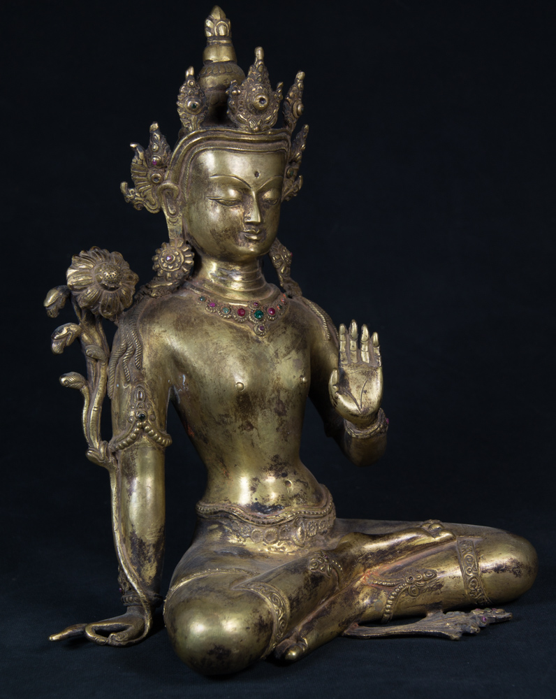 Old Nepali Lokeshwor statue from Nepal made from Bronze