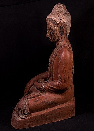 Large lacquer Mandalay Buddha statue