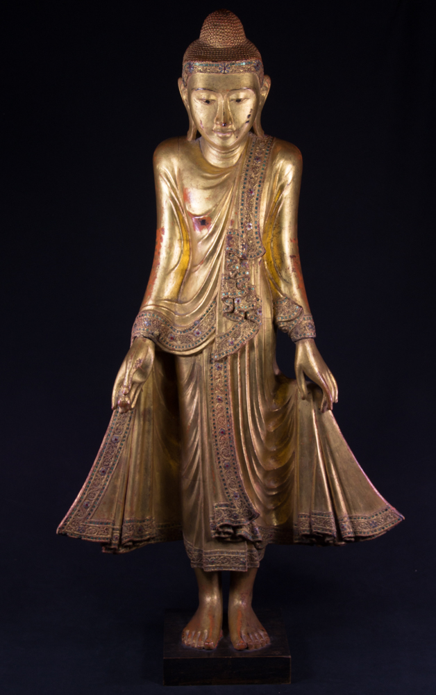 Antique Burmese Mandalay Buddha statue from Burma