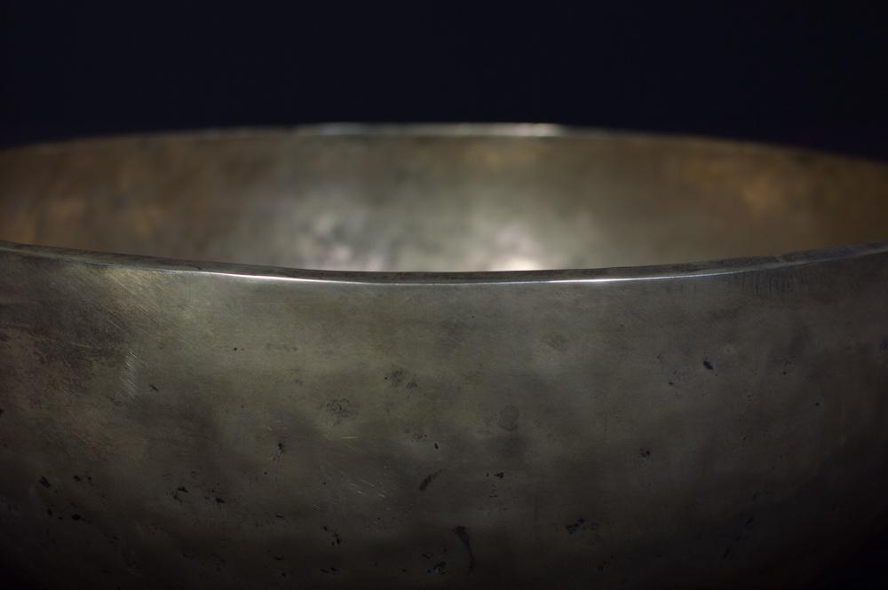 Large old Nepali singing bowl