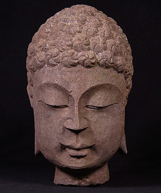 Old stone Buddha head