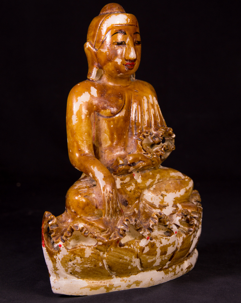 old marble buddha statue from burma made from marble. Black Bedroom Furniture Sets. Home Design Ideas