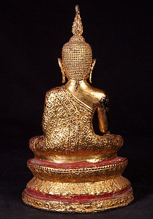 Antiek bronzen Rattanakosin Boeddhabeeld