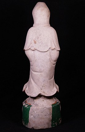 Old marble Guan Yin statue