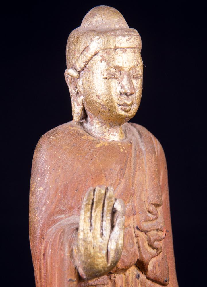 antike birmanische buddha figur aus birma gemacht aus holz. Black Bedroom Furniture Sets. Home Design Ideas
