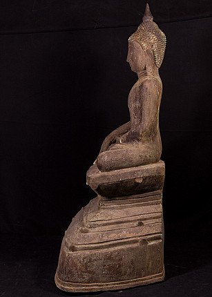 Antiek bronzen Shan Boeddhabeeld