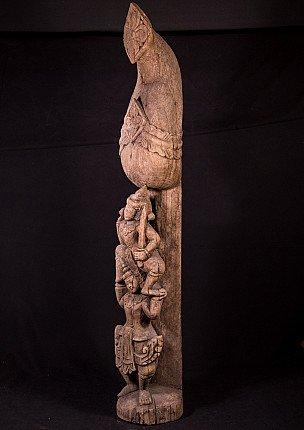 Antique Burmese temple fragment