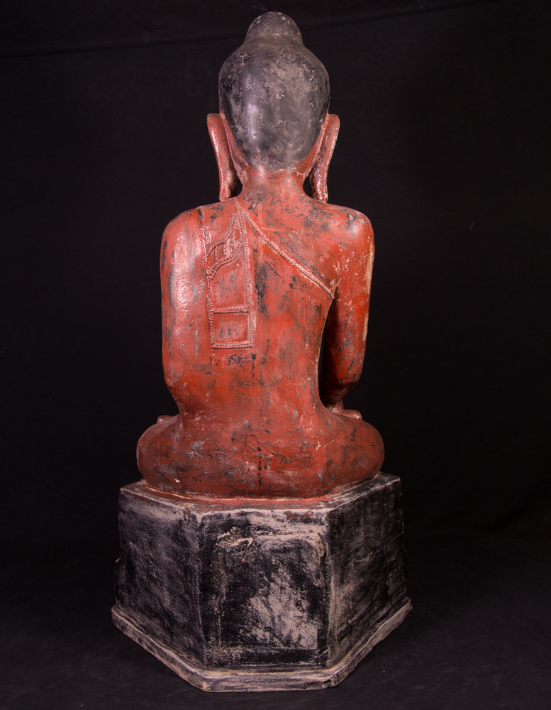Old Burmese Buddha statue from Burma made from lacquer