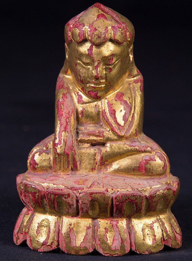 Antique Burmese Lotus Buddha statue