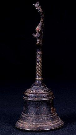 Antieke bronzen Nepalese bel