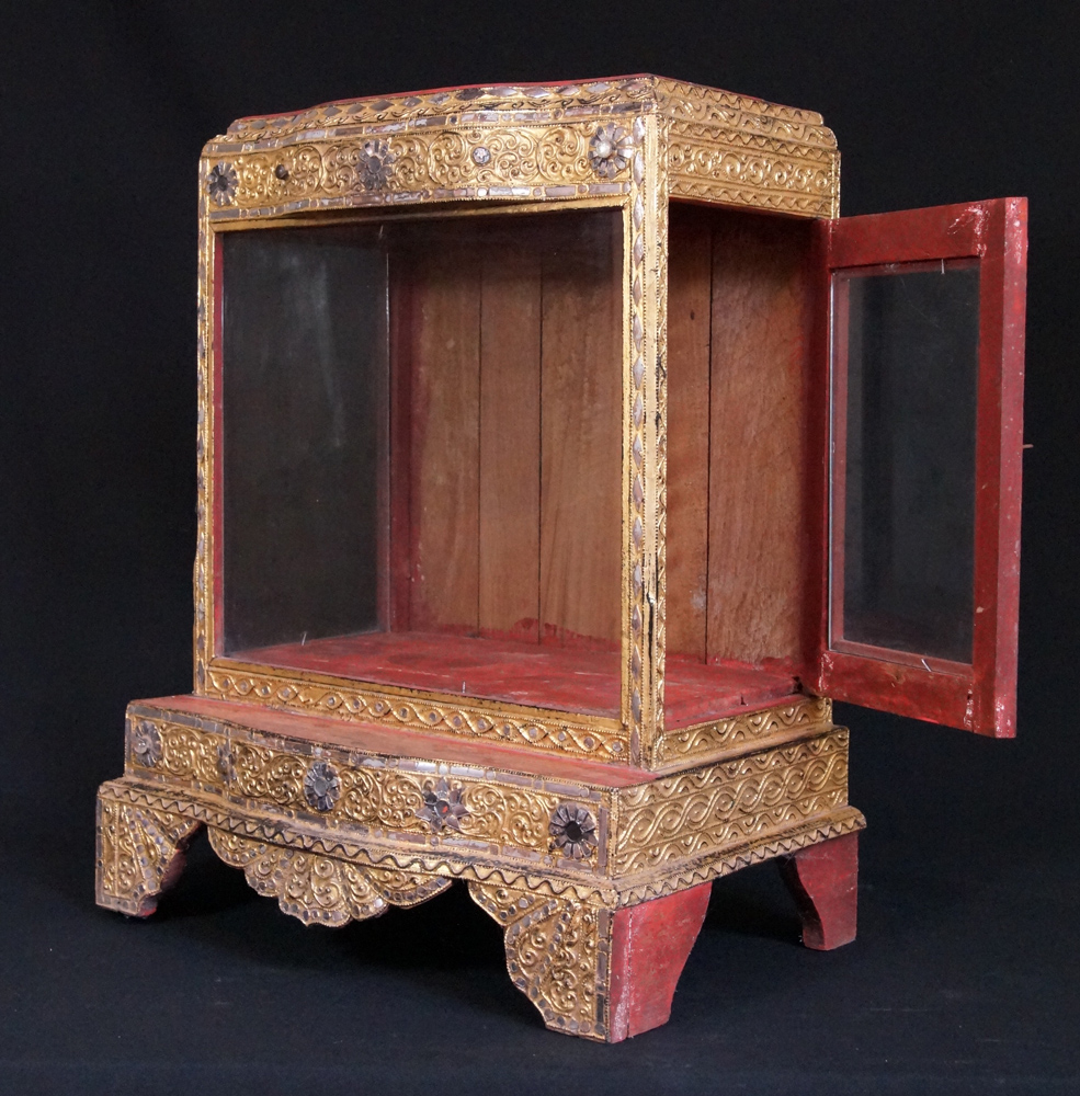 Antique Burmese temple from Burma made from Wood
