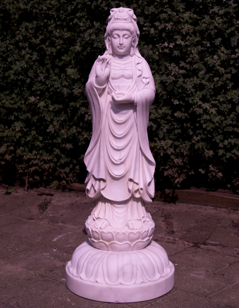 Large marble Guan Yin statue from China