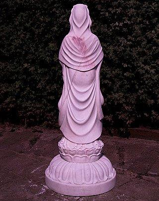 Large marble Guan Yin statue