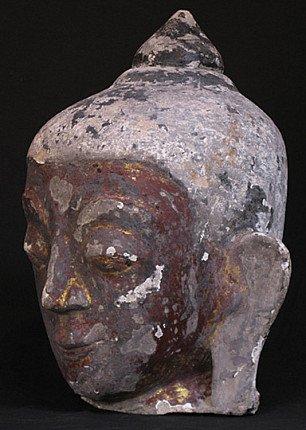 Antique Stucco Buddha head