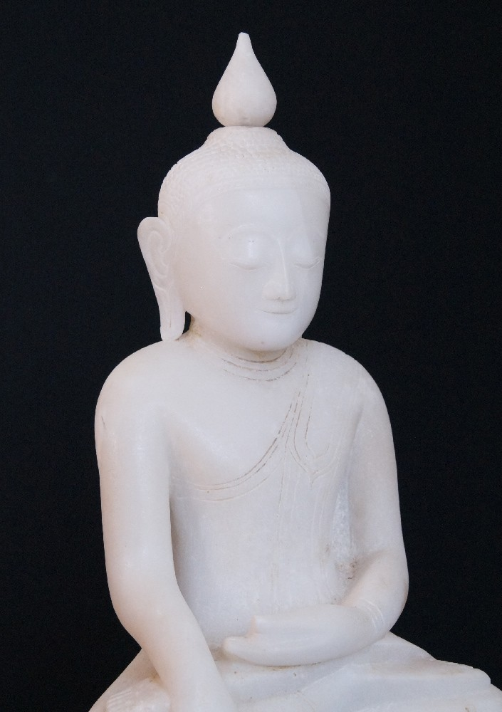 18th century Burmese Ava Buddha from Burma made from Marble
