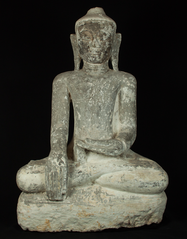 Antique Burmese Ava Buddha statue from Burma