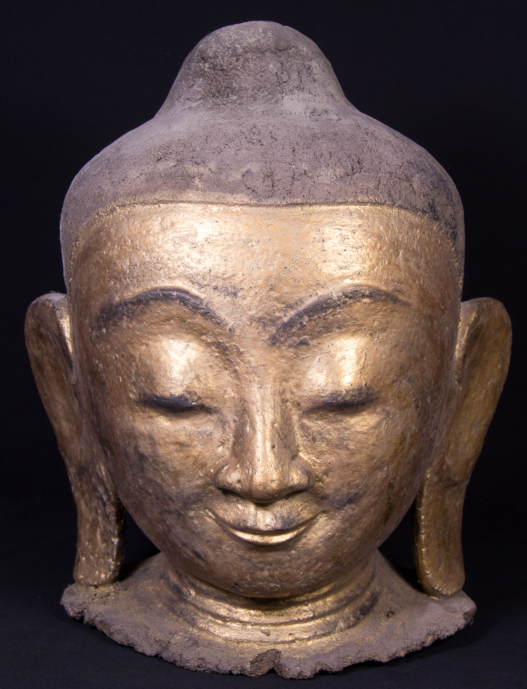 Old Burmese Buddha head from Burma