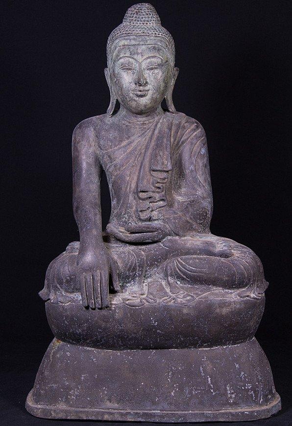 Oude bronzen Shan Boeddha