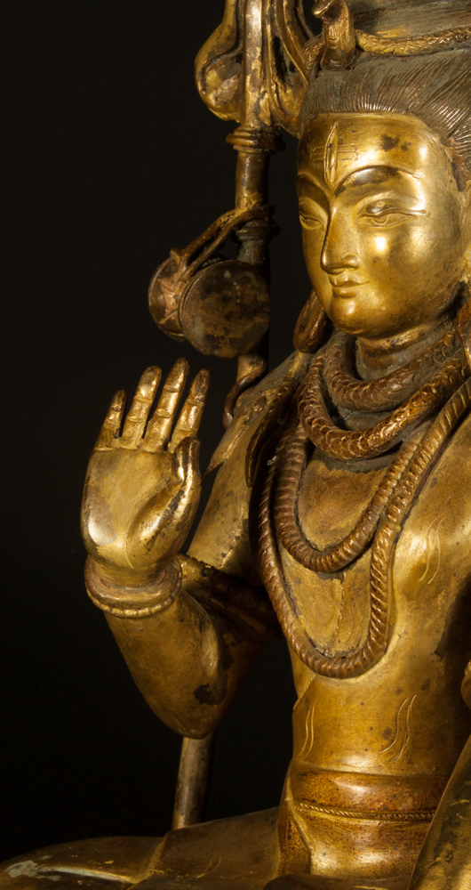 Old copper Shiva statue from Nepal made from Copper