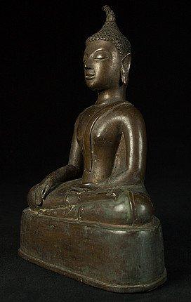 Antieke bronzen Chieng Sean Boeddha