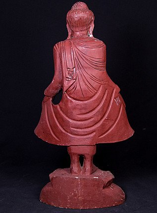 Old wooden Mandalay Buddha statue