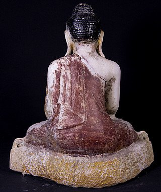 Antique marble Mandalay Buddha statue
