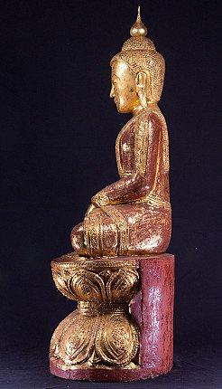 Old Burmese teakwooden Buddha statue